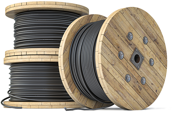 Isolated spool of cable